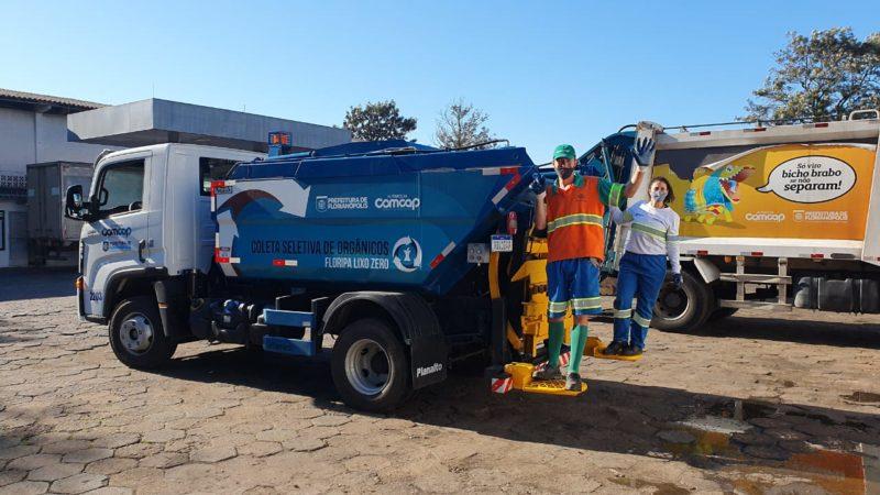 Florianópolis é a primeira capital a ter sistema público de coleta de orgânicos de porta em porta para compostagem e coleta monomaterial de vidro – Foto:PMF/Divulgação/ND