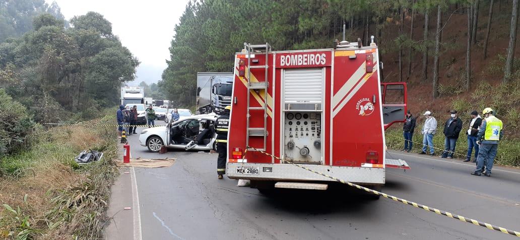 Acidente ocorreu na manhã desta terça-feira (1º). - Corpo de Bombeiros Militar/Divulgação /ND