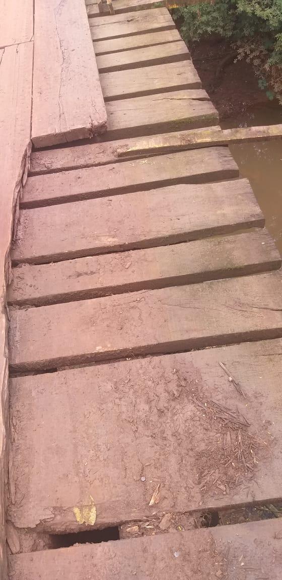 Ponte está em péssimas condições de uso. - Corpo de Bombeiros Militar/Divulgação/ND