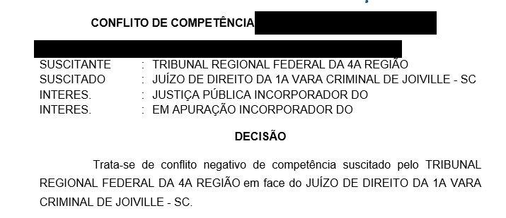 Decisão publicada pelo STJ expôs nome dos envolvidos em estupro coletivo em Joinville – Foto: STJ/Reprodução