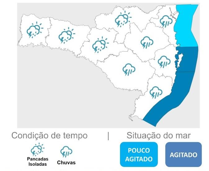 Defesa Civil alerta para condições do tempo desta quarta-feira – Foto: Defesa Civil/Divulgação/ND