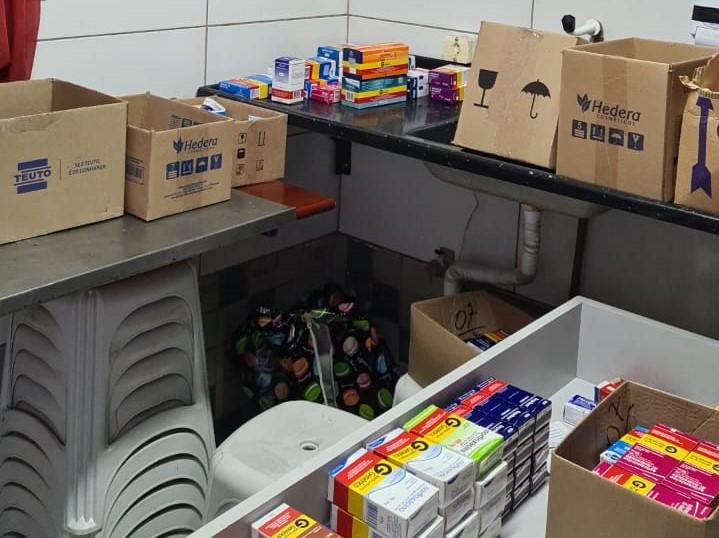 Depósito foi encontrado na casa dos proprietários da farmácia – Foto: Polícia Civil/ND