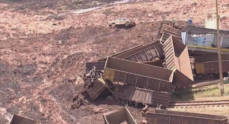 Rompimento da Barragem do Córrego do Feijão, em Brumadinho, deixou 270 mortos em janeiro de 2019 – Foto: Divulgação/ Record TV