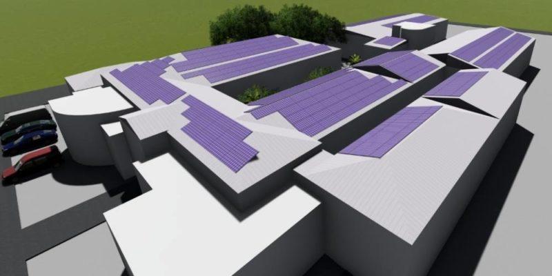 Placas serão instaladas no telhado do hospital – Foto: Divulgação/HSD/ND