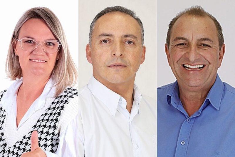 Os três candidatos a prefeitura de Petrolândia: Angela, Edson e Irone, respectivamente – Foto: Divulgação/Assessoria/ND