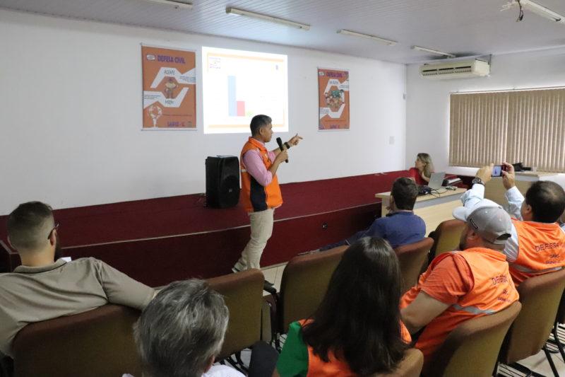 A Prefeitura de Gaspar contratou, em 2019, o estudo de cotas de enchentes, do Centro de Operação do Sistema de Alerta da Bacia Hidrográfica do Rio Itajaí-Açu – Ceops da Universidade Regional de Blumenau – FURB. – Foto: PMG/Divulgação/ND