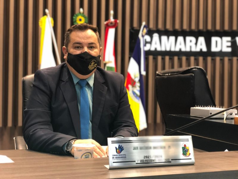 Vereador e vice-presidente do legislativo, Jair Anastácio volta aos trabalhos após ficar internado devido à Covid-19 – Foto: Divulgação/Câmara de Vereadores Araranguá/ND