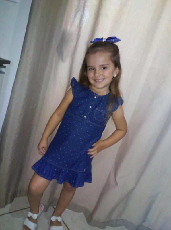 Evylin Vitoria Modrok, de apenas 5 anos, foi encontrada morta com sinais de estrangulamento – Foto: Redes Sociais/Divulgação ND