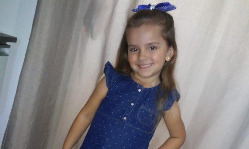Evylin, de apenas 5 anos, foi morta neste sábado (12)