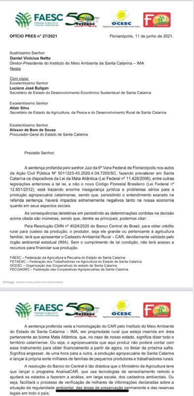 Documento alerta sobre ameaças à produção agrícola – Foto: Divulgação