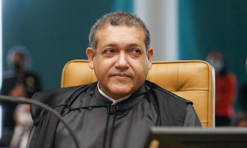 Ministro Nunes Marques durante sessão solene de posse no STF. – Foto: Fellipe Sampaio/SCO/STF/ND