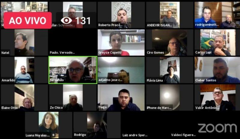 Evento virtual marcou a filiação de Coruja ao PDT – Foto: Divulgação