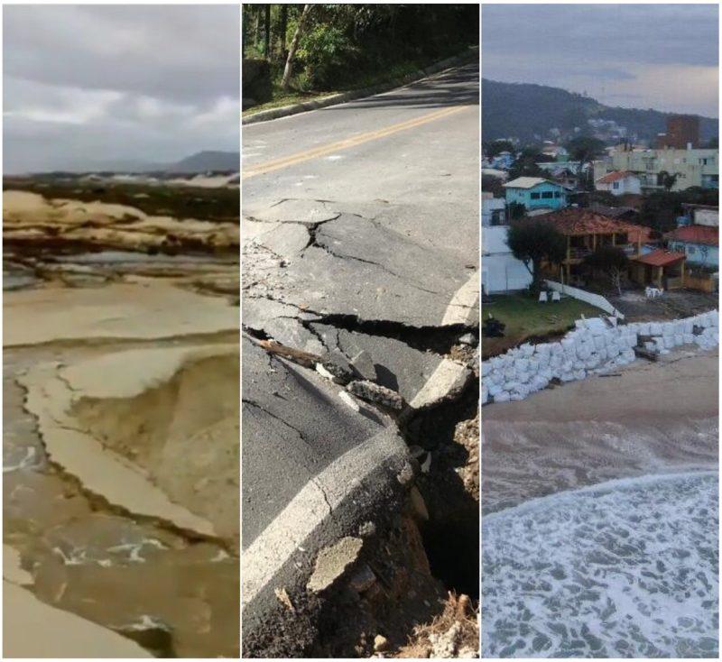 desastres provocados pela chuva em Florianópolis