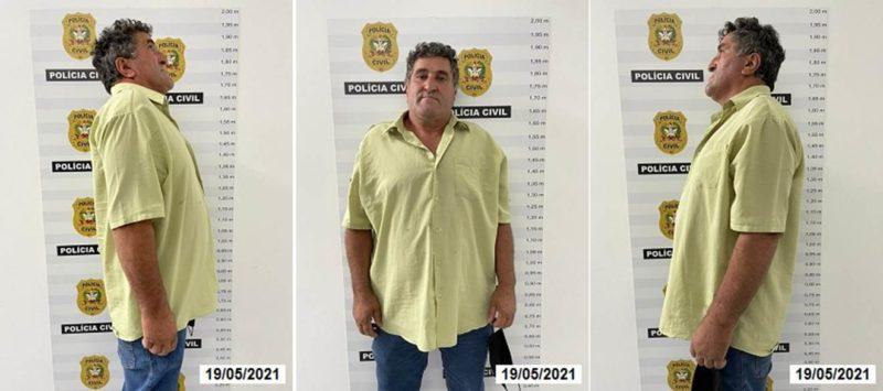 Sebastião Reni Brizola Tatim, de 56 anos, é procurado pela polícia – Foto: Polícia Civil/Divulgação/ND