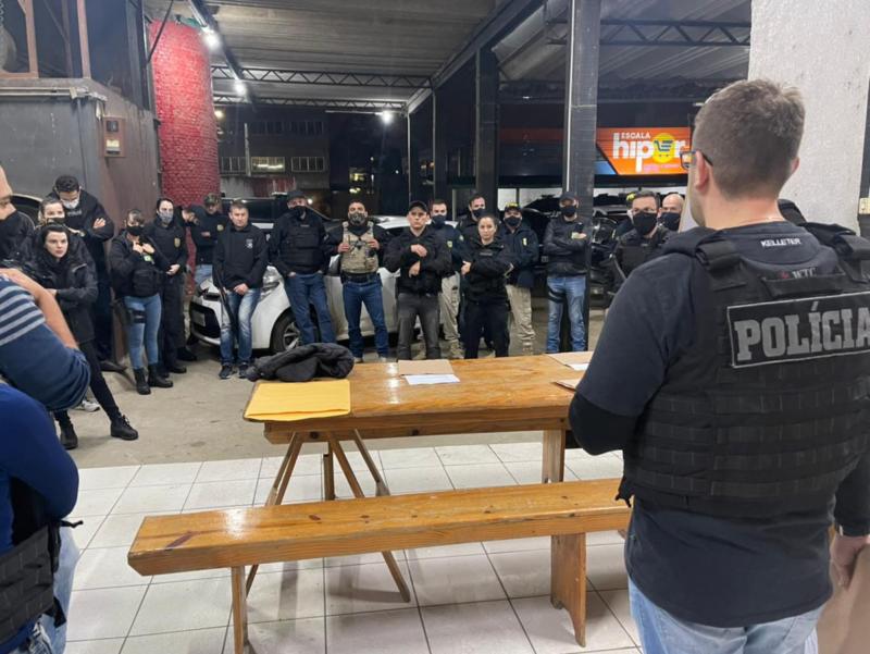 Operação mobilizou cerca de 50 policiais do Sul do Estado – Foto: Polícia Civil/ND