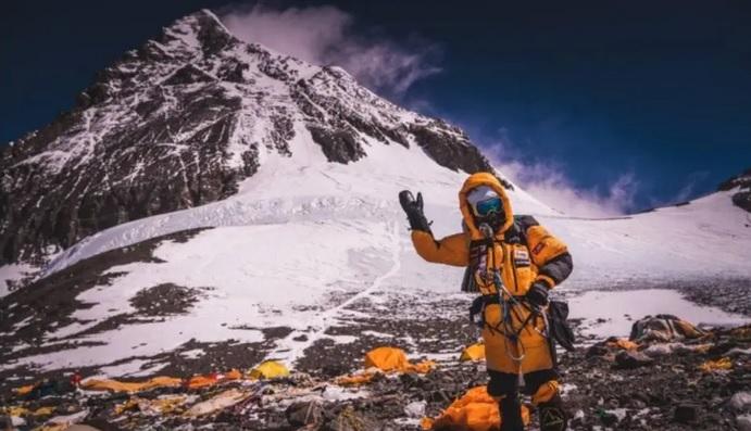 Aretha Duarte mais próxima de completar a missão do Monte Everest, no Nepal – Foto: Gabriel Tarso/ Divulgação
