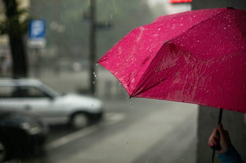 Guarda-chuva rosa