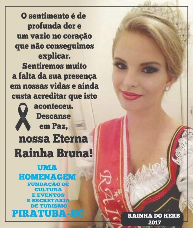 Bruna recebeu homenagens do poder público de Piratuba – Foto: Prefeitura de Piratuba/Divulgação/ND