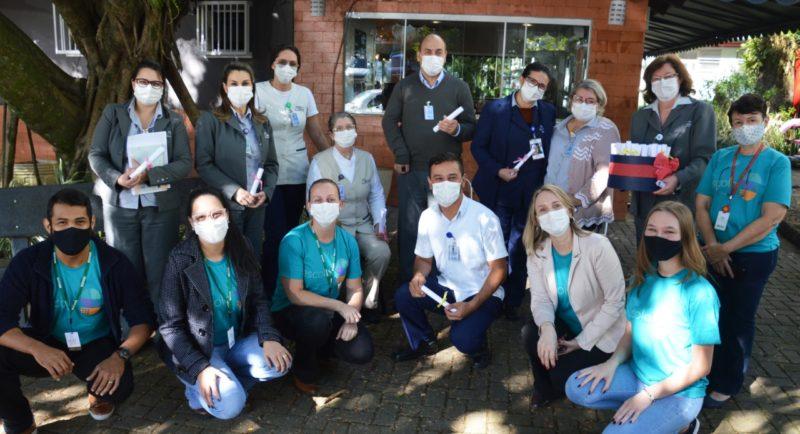 A ação foi acompanhada por representantes de vários setores hospitalares e seguiu todas recomendações de segurança para evitar a contaminação por Covid-19. – Foto: Gabriel Silva/Comunicação HSI