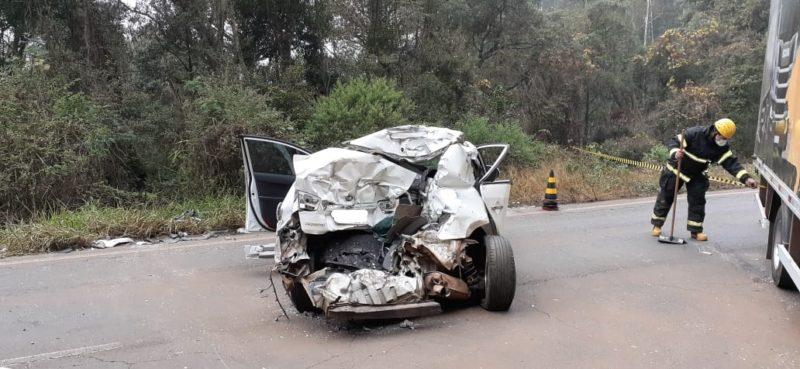 Acidente ocorreu na manhã desta terça-feira (1º). – Foto: Corpo de Bombeiros Militar/Divulgação /ND