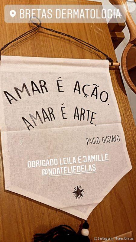 Viúvo de Paulo Gustavo mostra homenagem para comediante