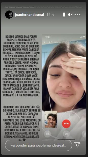 João Fernandes fala sobre morte de ex-noiva Mabel Calzolari – Foto: Instagram/Divulgação/ND