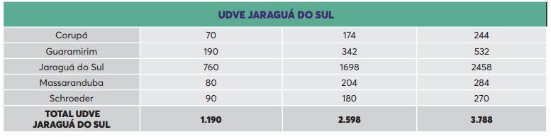 Vacinas distribuídas para a região de Jaraguá do Sul – Foto: SES/Reprodução/ND