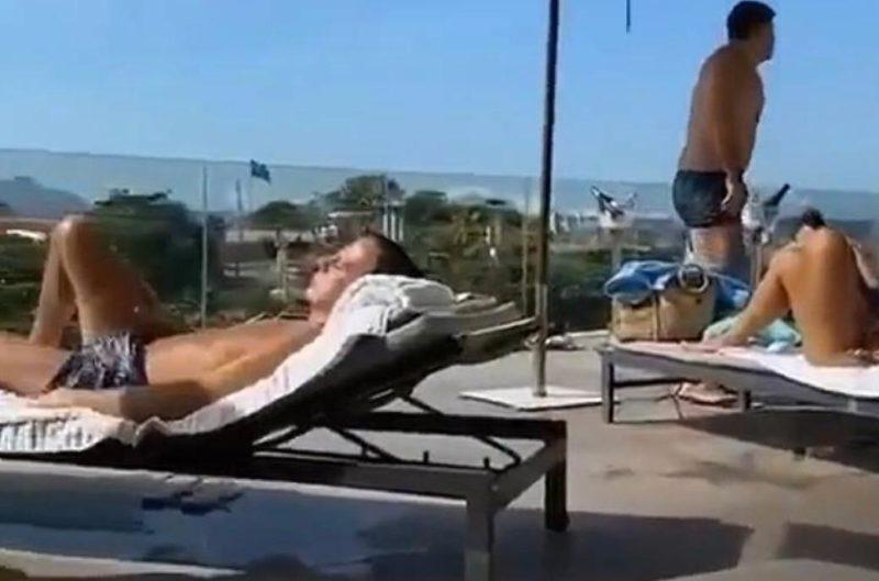 Governador João Doria no hotel do Rio de Janeiro em meio a turistas – Foto: Reprodução