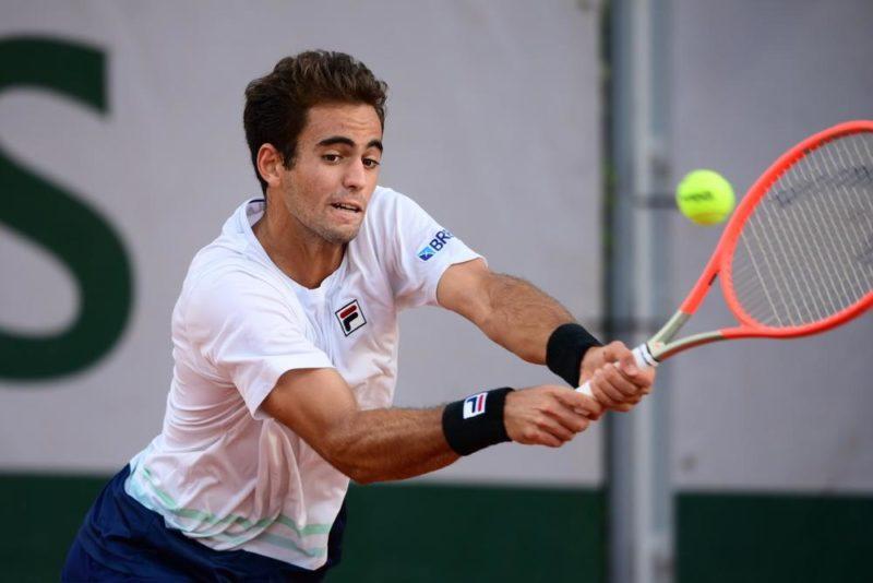 João Loureiro, de Itajaí, vai disputar no fim do mês o campeonato de Wimbledon, em Londres – Foto: André Ferreira/FFT/Divulgação