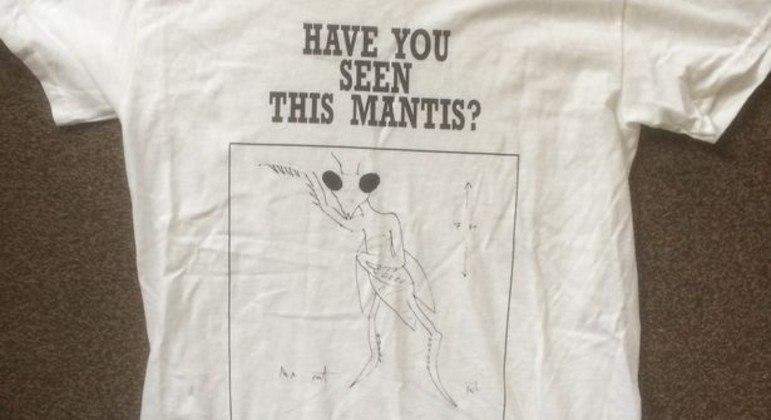 Camisa estampada com E.T. Louva-a-Deus desenhado por Paul – Foto: Paul Froggatt/Reprodução/R7
