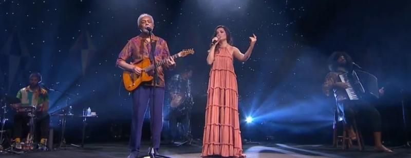 Paraibana participou de show com Gilberto Gil – Foto: Globoplay/Multishow/Reprodução
