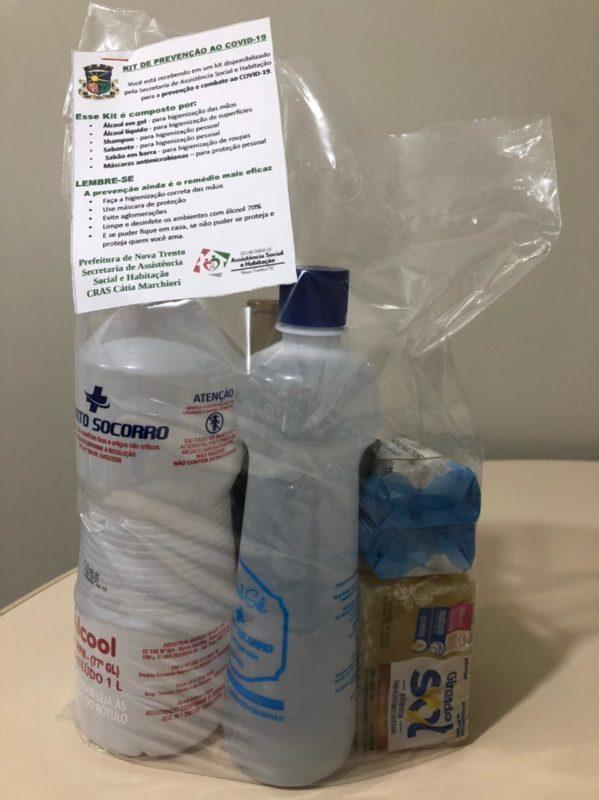 kits para prevenir a contaminação por Covid-19