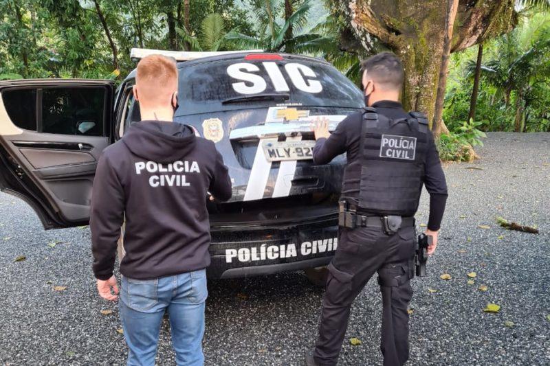 Homem é preso por armazenar mais de 5 mil arquivos de pornografia infantil no Vale – Foto: Divulgação/Polícia Civil