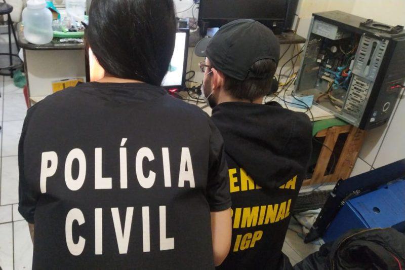 Operação Luz na Infância cumpriu seis mandados de busca e apreensão em SC – Foto: Divulgação/Polícia Civil