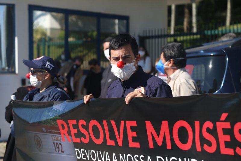 Após pressão dos funcionários da Samu, reunião com secretário adjunto da Saúde é marcada – Foto: Gabriel Volinger/SindSaúde