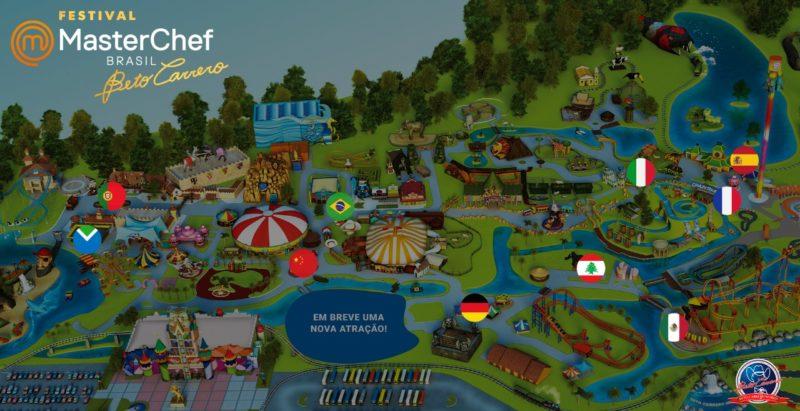 Saiba onde cada estação do Festival MasterChef vai ficar no parque Beto Carrero – Foto: Beto Carrero World/Divulgação
