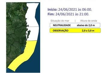 Ciclone extratropical poderá provocar fortes ondas marítimas – Foto: Defesa Civil de SC/Divulgação/ND