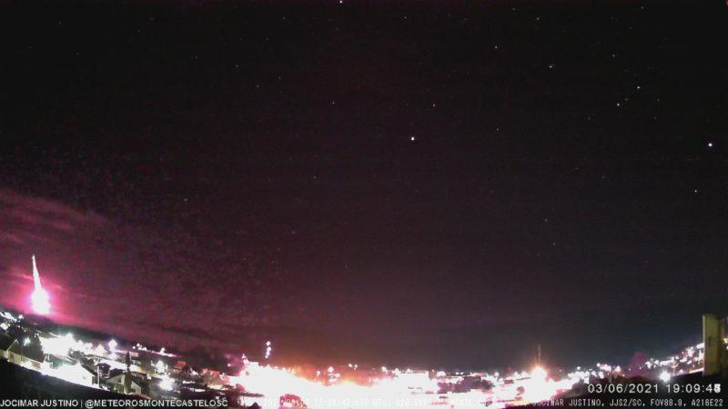 Em Monte Castelo, fenômeno pode ser visto por volta das 19h – Foto: Jocimar Justino/Divulgação