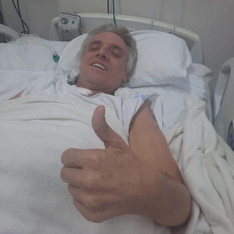 Vilmar Minozzo ficou 82 dias na UTI do Hospital Santa Catarina, em Blumenau – Foto: Maria Lúcia Minozzo/Especial/ND