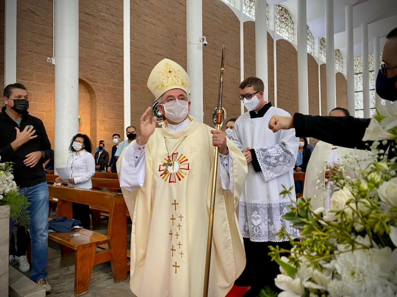 Missa foi celebrada na manhã desta quinta-feira (3) em Blumenau - Moisés Stuker/NDTV