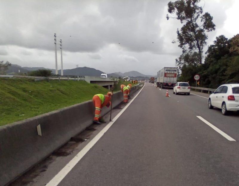 Diversos trabalhos serão realizados no trecho sul da BR-101 em Santa Catarina – Foto: Divulgação/CCR ViaCosteira/ND