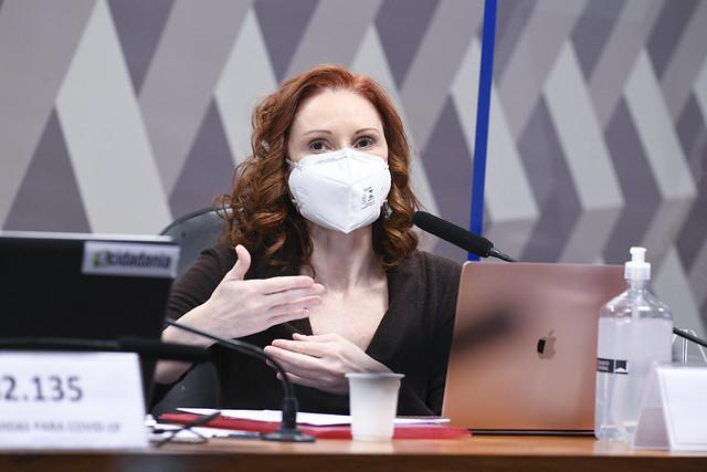 'Ciência não tem dois lados', rebate Natalia Pasternak na CPI da Covid– Foto: Jefferson Rudy/Agência Senado/ND