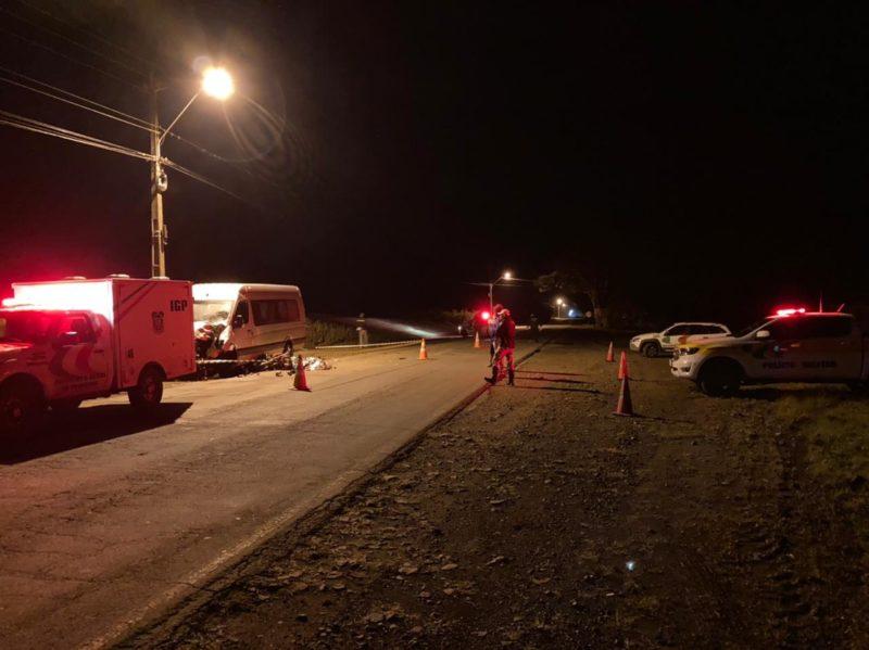 Motociclista morreu em acidente com van em Jaborá