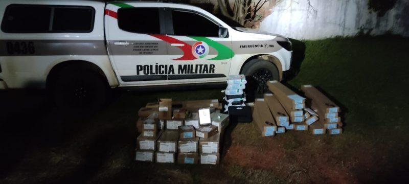 Duas pessoas foram presas e levadas para a Delegacia da Polícia Civil – Foto: Polícia Militar/Divulgação/ND