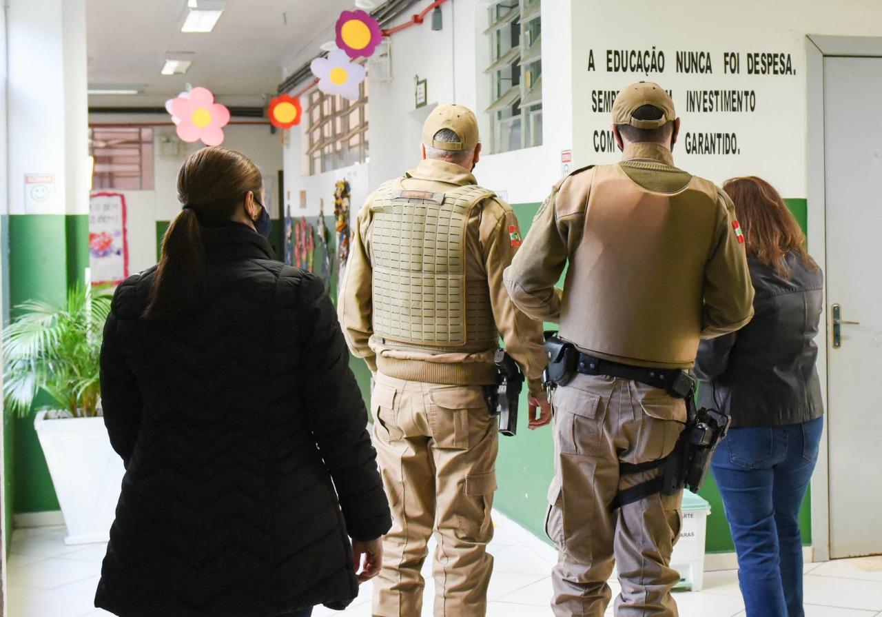 Patrulhas serão realizadas nas escolas de 54 cidades do Oeste de Santa Catarina. - Prefeitura de Chapecó/Divulgação/ND