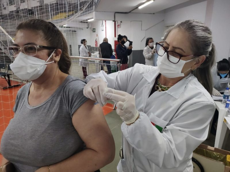 Vacinação segue no município. – Foto: Prefeitura de Xanxerê/Divulgação