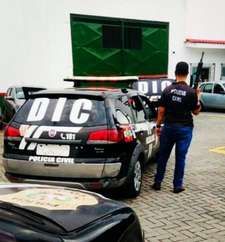 Crime aconteceu na manhã de terça-feira (1º) e suspeito foi preso durante a tarde – Foto: Polícia Civil/Divulgação