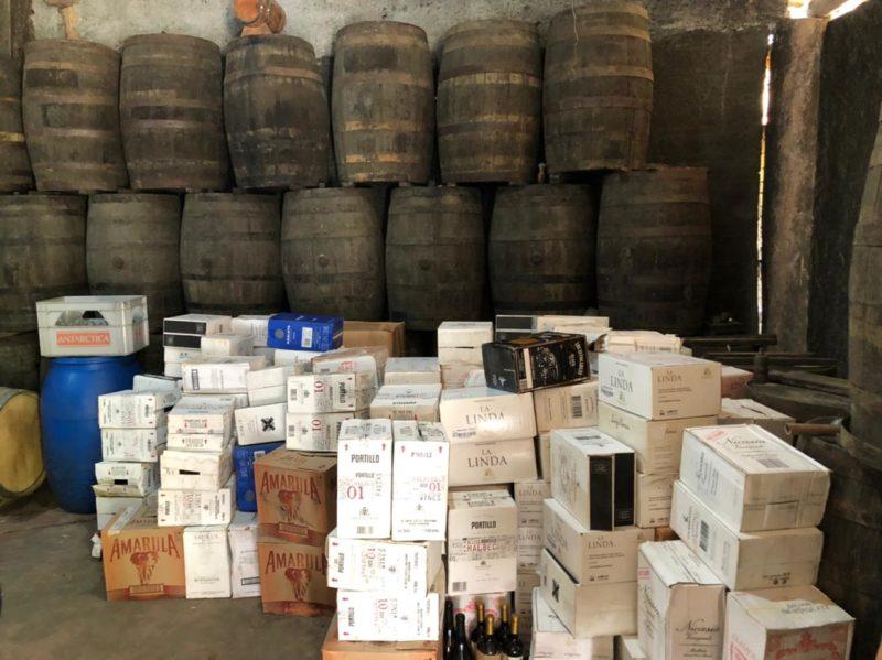 Bebidas alcoólicas apreendidas pela Receita Federal serão transformadas em álcool 70° – Foto: Divulgação/Receita Federal