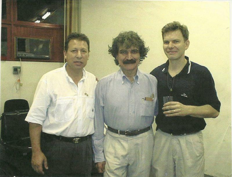 Ex-reitor da Unesc Edson Carlos Rodrigues, Belchior e o jornalista Zeca Virtuoso