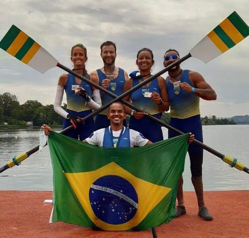 Equipe que conquistou vaga nos Jogos Paralímpicos de Tóquio. – Foto: Feresc/divulgação/ND